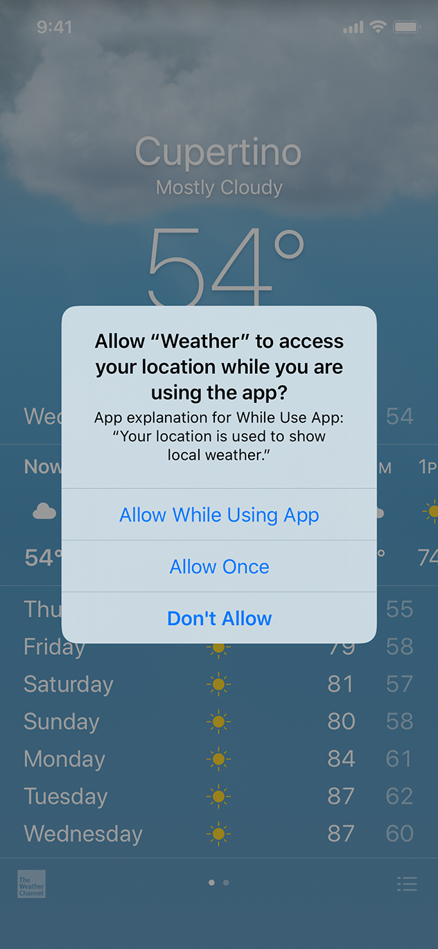 Requesting Permission - App Architecture - iOS - Human Interface
