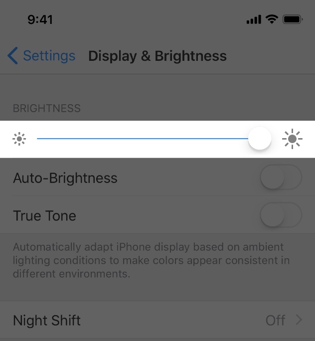 Sliders - Controls - iOS - Human Interface Guidelines