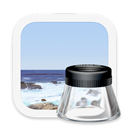 The Preview app icon, which shows an idealized photo of a seascape.