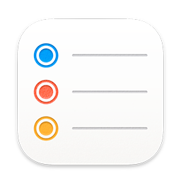 The Reminders app icon, which shows three horizontal lines, each preceded by a different color bullet, echoing the colors people can apply to their reminder items.