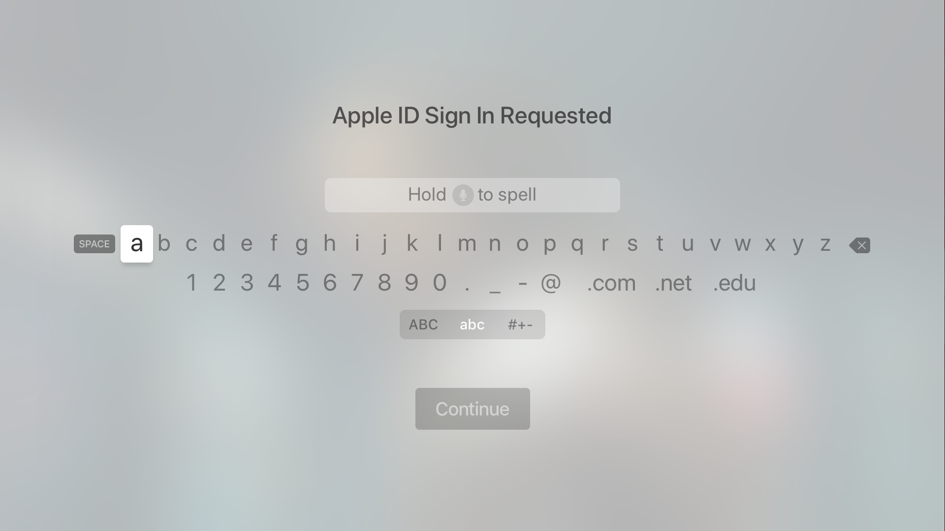 Text and Search - Interface Elements - tvOS - Human