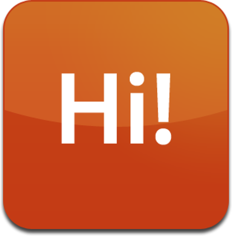 The Hello World widget bar icon