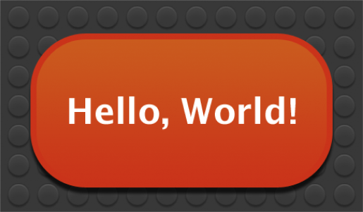 The Hello World widget installed and running in Dashboard