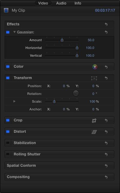 FxPlug Host Built-in UI Elements