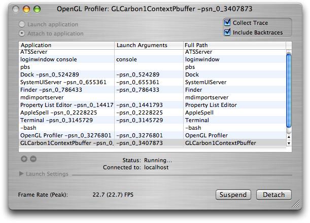 Profiler for OpenGL