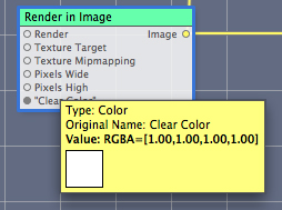 The help tag for the Clear Color input port
