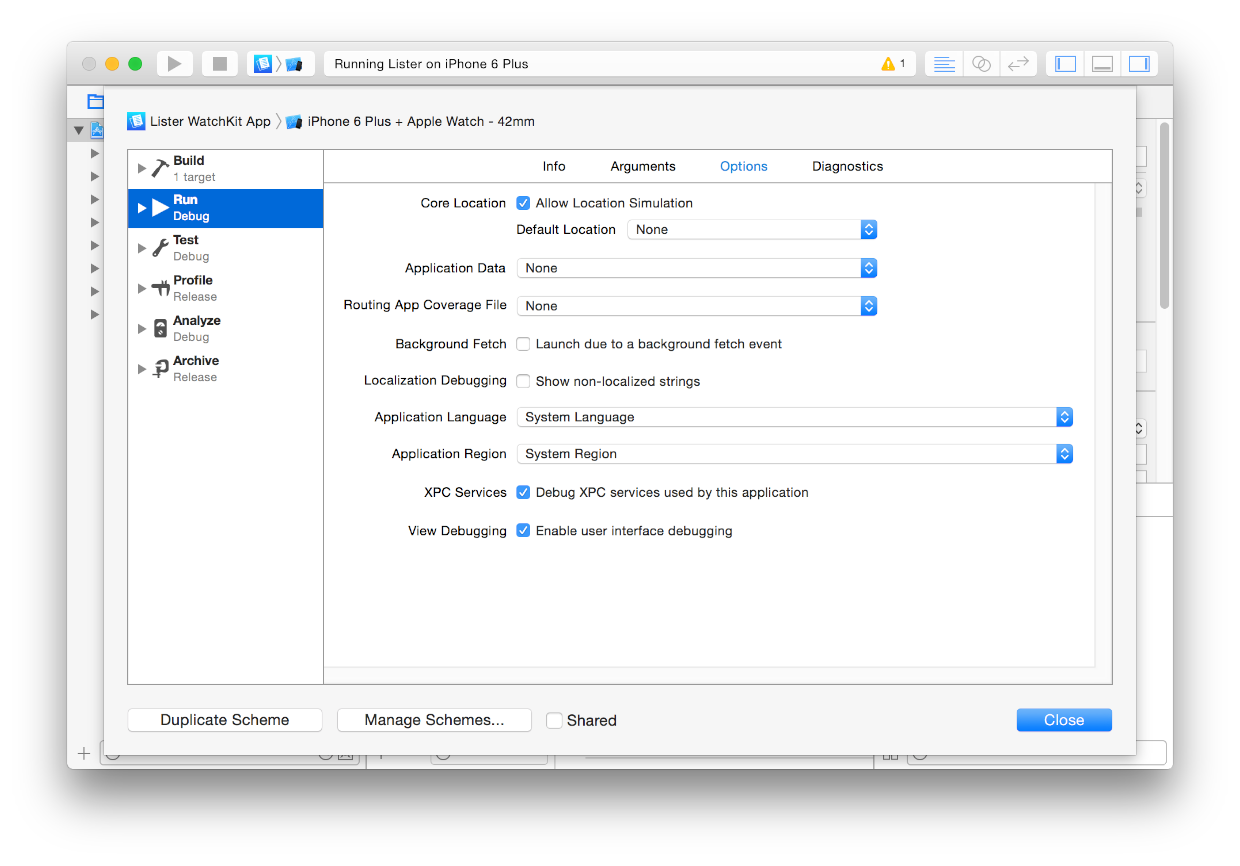 Customizing Your Simulator Experience with Xcode Schemes