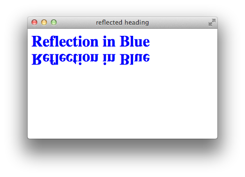 Using Reflections