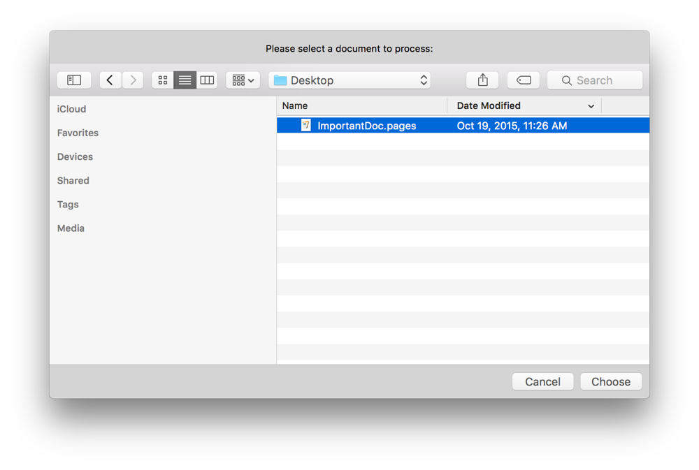 Mac Automation Scripting Guide: Prompting for Files or Folders