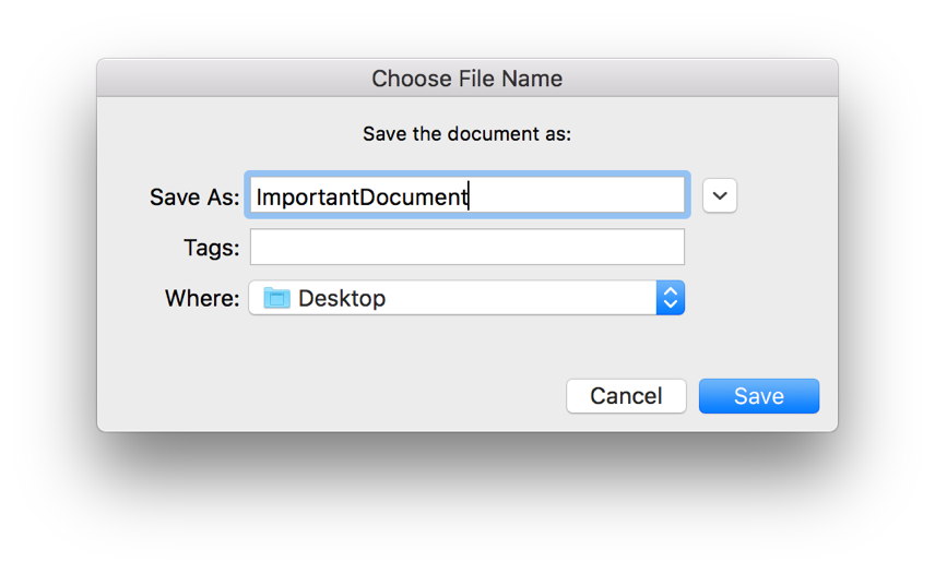 Mac Automation Scripting Guide: Prompting for a File Name