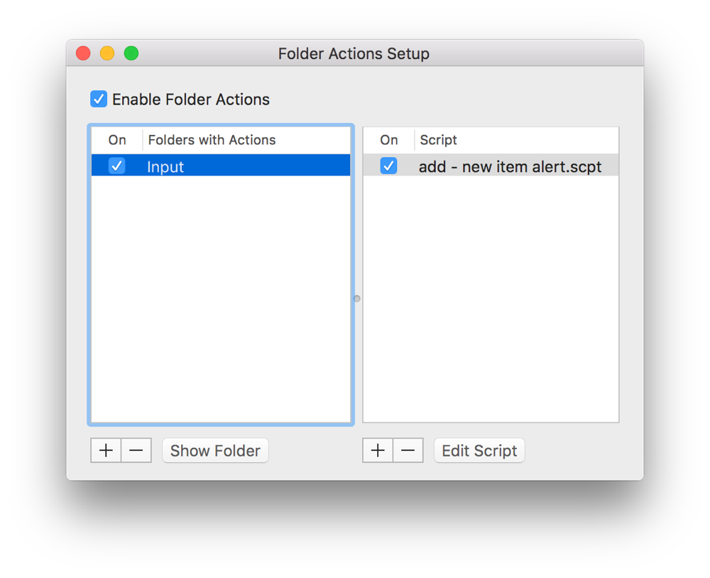 Mac Automation Scripting Guide: Watching Folders