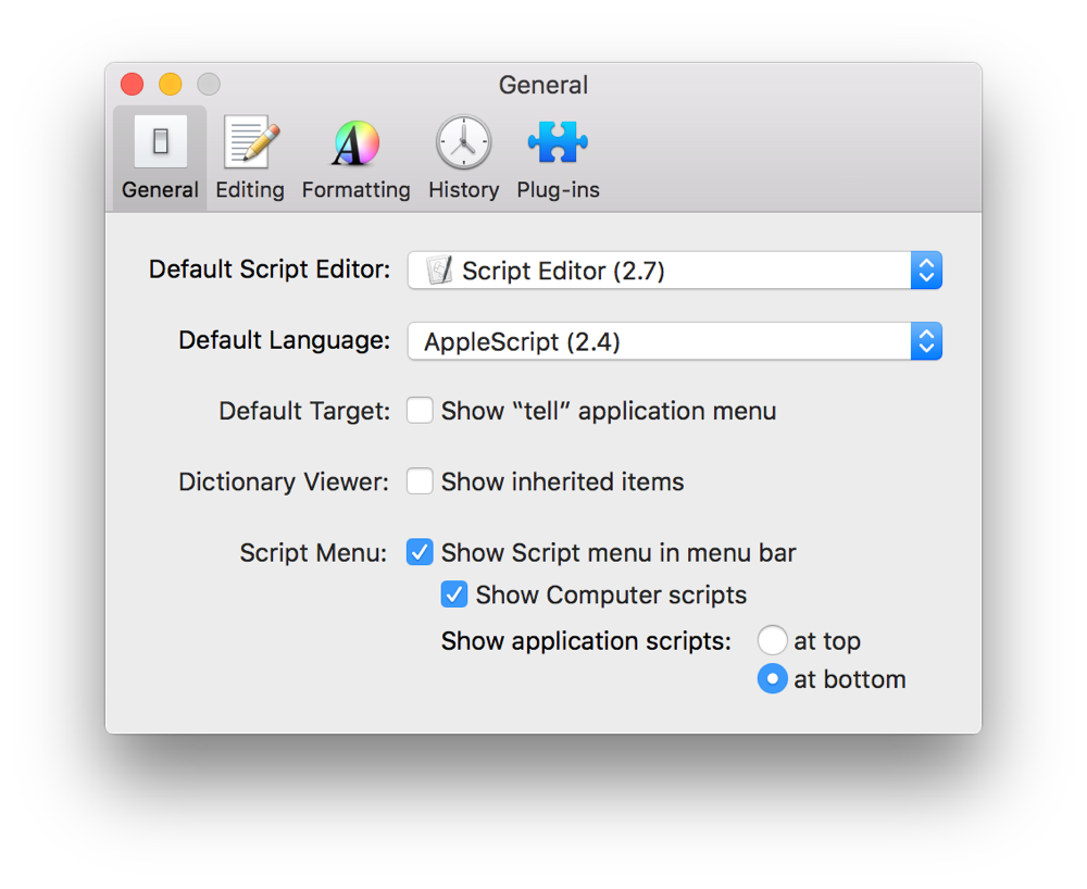 editor font book apple script