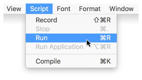Mac Automation Scripting Guide: Running a Script