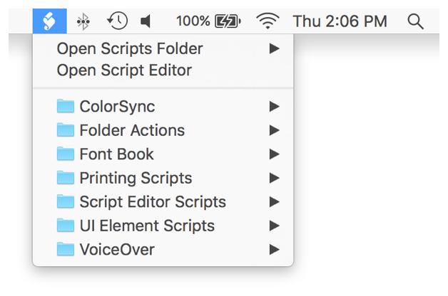Mac Automation Scripting Guide: Using the Systemwide Script Menu