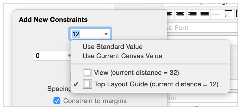 auto layout guide working with constraints in interface builder