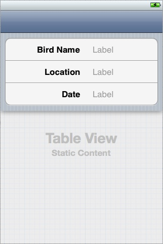 Creating and Configuring a Table View