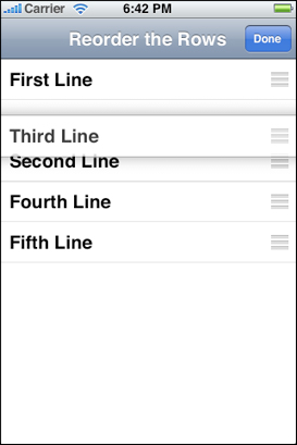 Apple's reference list interface