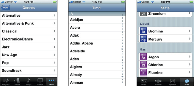 About Table Views In Ios Apps