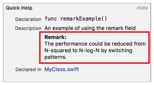 Markup Formatting Reference Remark
