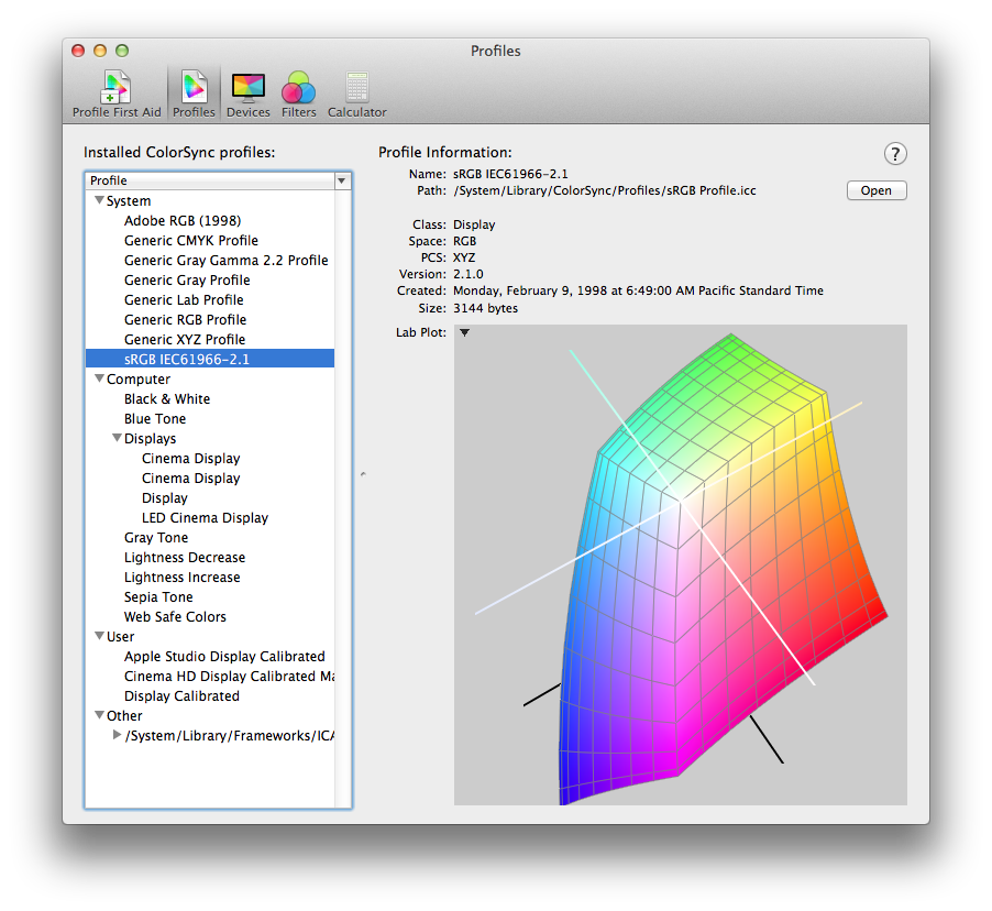Technical Note TN2313: Best Practices for Color Management