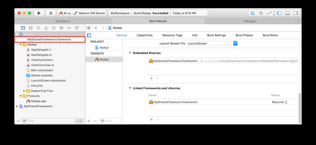 Technical Note TN2435: Embedding Frameworks In An App
