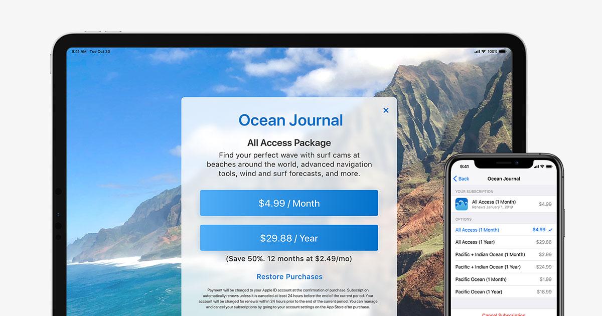Auto Renewable Subscriptions App Store Apple Developer