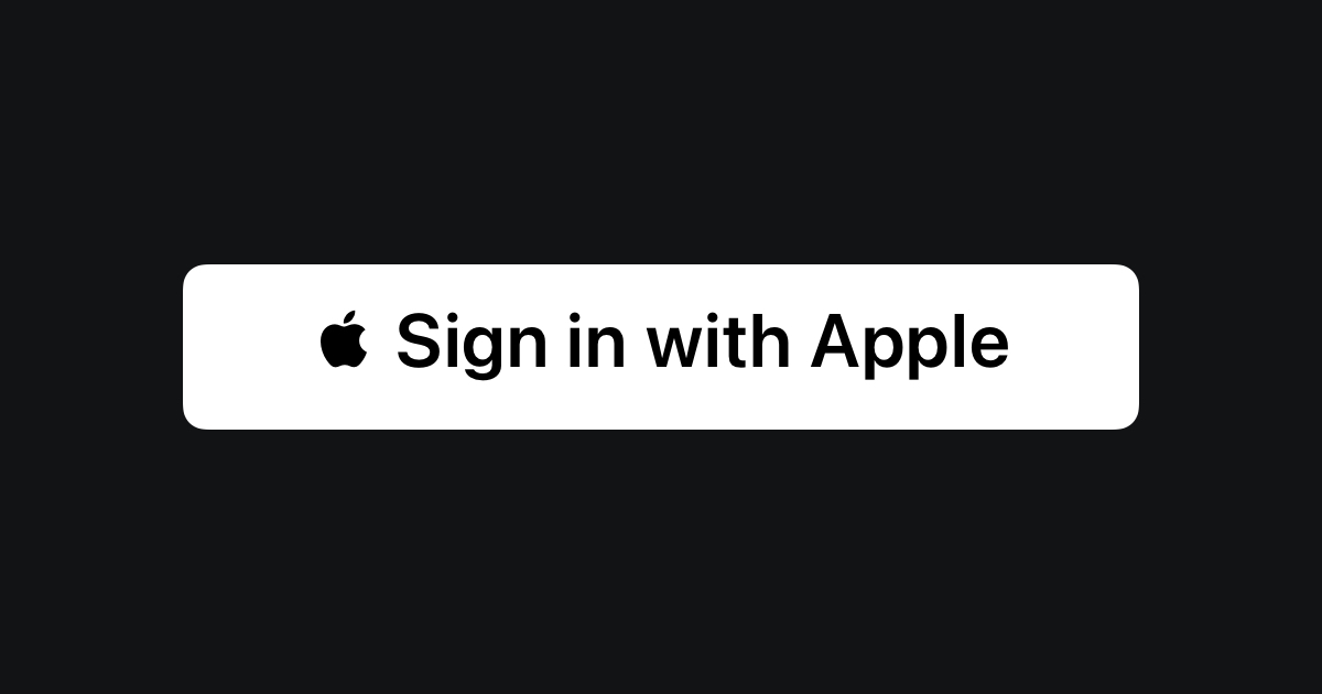 Sign in with Apple - Apple Developer